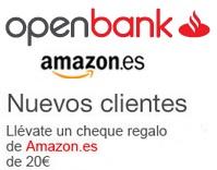Cheque Regalo Amazon 20 Openbank