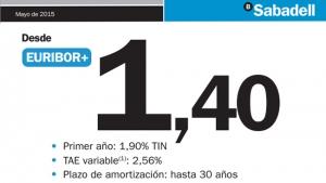 Banco sabadell baja hasta el euribor 1 4 su hipoteca for Hipoteca oficina directa