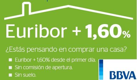 Bbva baja su hipoteca hasta el euribor 1 60 los for Hipoteca oficina directa