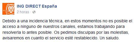 Ing echa el cierre por problemas t cnicos y sin preaviso a for Bankia oficina electronica